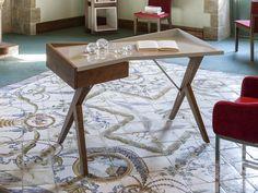 Bureau. Mod. ATENAS NOYER Madeira Natural, Drafting Desk, Office Desk, Table, Furniture, Design, Home Decor, Study Rooms, Garden Chairs
