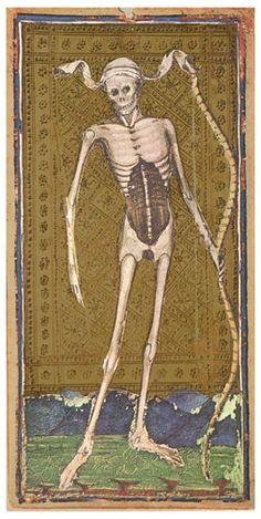 Visconti-Sforza Tarot deck, Death card, circa1440's and 1470's
