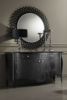 High End Black Alligator Embossed Leather Cabinet - Juliettes Interiors Funky Furniture, Luxury Furniture, Furniture Ideas, Woman Cave, Furniture Collection, Console Tables, Entrance Hall, Cabinet, Mirror