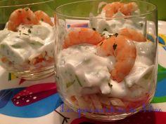 Verrines concombre, surimi & crevettes - Les gourmandises de  Némo