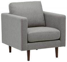 Rivet Revolve Modern Accent Chair, Grey Weave -- Check this awesome product by going to the link at the image. (This is an affiliate link) Porch Chairs, Living Room Chairs, Sectional Sofa With Recliner, Sofa Chair, Sofa Bed, Couch, Interior Design Minimalist, Chaise Cushions, Mid Century Modern Living Room