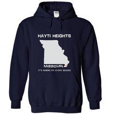 Hayti Heights-MO10 - #anniversary gift #funny gift. GUARANTEE => https://www.sunfrog.com/LifeStyle/Hayti-Heights-MO10-8179-NavyBlue-47311264-Hoodie.html?60505