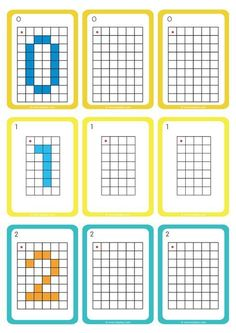 Moving in a Grid GS CP Replicating Numbers - Exercises based on . Fun Worksheets For Kids, Math Activities For Kids, Reading Worksheets, Preschool Worksheets, Fun Math, Math Games, Visual Perception Activities, Free Printable Puzzles, Pix Art