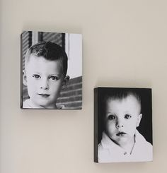 "DIY photo ""canvases"""