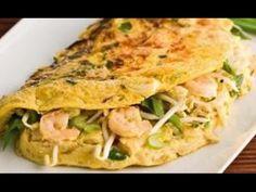 Omeletts mit Erbsen und Frühlingszwiebeln