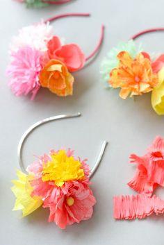Paper Flower Headband DIY Oh Happy Day