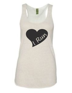 love running - running tank top, running top - heart and love for valentine