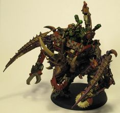 Warhammer 40k - This is my favorite conversion of all time, the Space Ork Looted Carnifex!