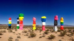 10 outdoor installations of summer: The Seven Magic Mountains Ugo Rondinone in Nevada