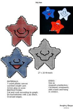 Plastic Canvas Star Pattern Free | Plastic Canvas