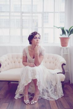 Vintage inspired wedding shoes by Rachel Simpson, photographs by Emma Case...