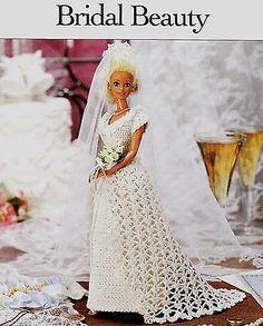 Crochet-Pattern-FASHION-DOLL-WEDDING-DRESS-Instructions