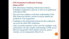 We offer itil certification training online -   To know more about the salient features and highlights of our online certification training.   Please visit our site:     http://www.w2cuniverse.com/it-service-management/itil-certification-training