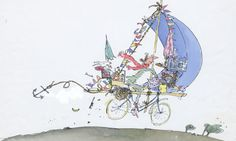 Quention Blake's Mrs Armitage: 'Bumpers? Who needs them?' Photograph: © Quentin Blake
