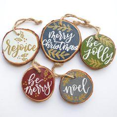 Christmas Wood, Diy Christmas Ornaments, Homemade Christmas, Diy Christmas Gifts, Holiday Crafts, Christmas Holidays, Christmas Decorations, Beach Christmas, Christmas Ideas