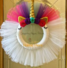 Your place to buy and sell all things handmade Tulle Projects, Tulle Crafts, Wreath Crafts, Diy Wreath, Decor Crafts, Diy Crafts, Burlap Wreaths, Ribbon Crafts, Diy Projects