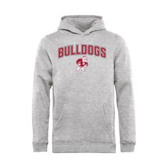 Alabama A&M Bulldogs Youth Proud Mascot Pullover Hoodie - Ash - $54.99