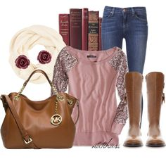 """""""Belle Fall Outfit"""" by natihasi on Polyvore"""