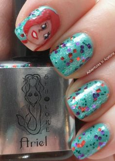 Adventures in Acetone  (the little mermaid,nail designs)