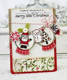 Cute little banner of Christmas-y things. Could use ornaments too.