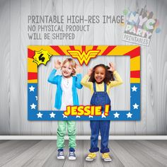 Wonder Woman Photo Booth Wonder Woman by NYCPartyPrintables Wonder Woman Birthday, Wonder Woman Party, Birthday Woman, Superhero Birthday Party, Birthday Parties, Superman Birthday, 5th Birthday, Birthday Ideas, Anniversaire Wonder Woman