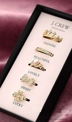 Rings from j.crew, would be the cutest gift for my teen daughters.