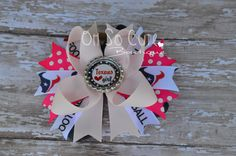 Houston Texans Football Team Sport Pink Boutique Hairbow by OhSooCuteBoutique on Etsy https://www.etsy.com/listing/462185533/houston-texans-football-team-sport-pink