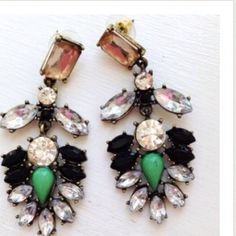 Everest Earrings These are gorgeous earrings. I bought them here on Posh hoping I could go out of my comfort zone and wear statement jewelry. Unfortunately I couldn't break out. . My loss is certainly your gain with these gorgeous earrings!!  Never worn. Jewelry Earrings