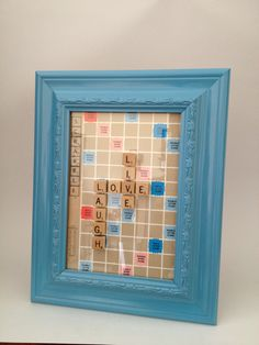 "Scrabble Tile Picture Frame ""LIVE LOVE LAUGH"""
