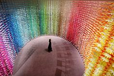 "At the National Art Center in Tokyo, Emmanuelle Moureaux helps the spot mark its anniversary with the installation ""Forest of Numbers."" This ""symbolization of the next 10 yea… Architecture Design, Contemporary Architecture, Tokyo, National Art, Design Blog, Make Color, Japanese Design, Design Furniture, Furla"