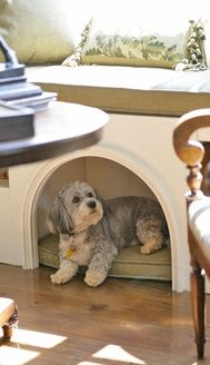 Idea :: Window Seat Dog House. So CUTE!!