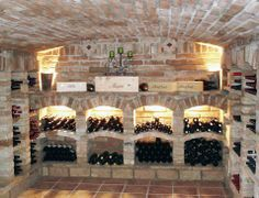 Manufacture of a canopy under staircase for cellar … – Wine World Wine Shelves, Wine Storage, Caves, Underground Cellar, Bar Deco, Home Wine Cellars, Wine Cellar Design, Root Cellar, Italian Wine