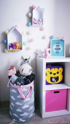 kids room inspiration, cotton light balls, rabbit lamp, kids room storage