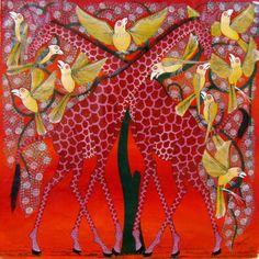 Red Giraffes