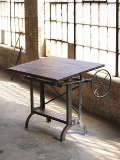Stand Up Industrial Drafting table desk by CamposIronWorks on Etsy