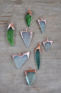 Items similar to Sea Glass Pendant, electroformed sea glass, copper electroform,… - Electroformed Jewelry Mermaid Necklace, Sea Glass Necklace, Sea Glass Jewelry, Necklace Set, Mermaid Jewelry, Sea Glass Crafts, Sea Glass Art, Stained Glass, Seashell Crafts