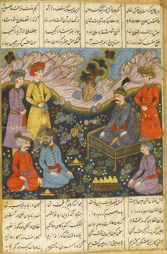 An illustrated copy of Nizami's Khamsa, copied by Wahabi Sajavandi, Central…