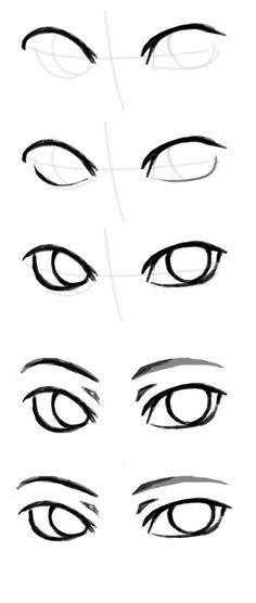 How to draw 'the other eye'. Because people keep complaining. The answer? You don't draw a whole eye first. You do it part by part, then make adjustments and add details as you please.