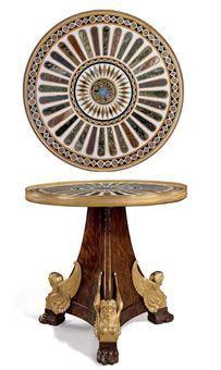 A stunning Empire ormolu-mounted mahogany and specimen marble gueridon, circa 1810 photo Image 2009 Christie's Ltd