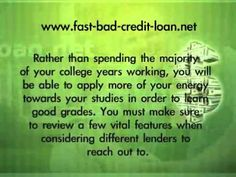 http://www.fast-bad-credit-loan.net/how-to-get-a-bad-credit-student-loan-without-a-cosigner.html  If you are shopping around for a bad credit student loan and have not had much success, you may be looking in all the wrong places. Fortunately, however, there is a vast range of online lenders who are both willing and able to accommodate your needs. In fact, you can even get approval without having to get a family member or friend co-sign for you.