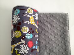Giraffes Baby Blanket Grey minky by Lilbeautique on Etsy, $40.00