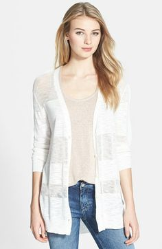Two by Vince Camuto Stripe Mixed Stitch Cardigan (Regular & Petite) available at #Nordstrom