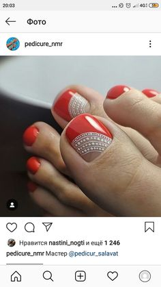 Semi-permanent varnish, false nails, patches: which manicure to choose? - My Nails Pretty Toe Nails, Cute Toe Nails, Fancy Nails, Toe Nail Art, My Nails, Nice Nails, Manicure E Pedicure, Pedicures, Feet Nails