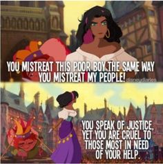 Esmeralda. . . That would be me! the fact she has poofy brown hair like me and tan skin like me and thick brown eyebrows you guessed it like me! i call her!