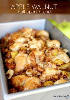 Apple Walnut Pull-Apart Bread | Six Sisters' Stuff