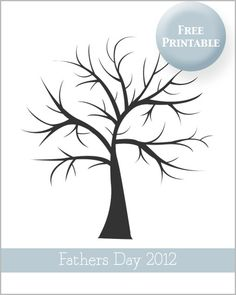 Fathers Day Printable Fingerprint Tree    Thank you!!!  If you love my printables I would love it if you would vote for me in the Top Mom Blogs http://www.circleofmoms.com/blogger/lovely-living?blogroll_id=76    Thank you xx