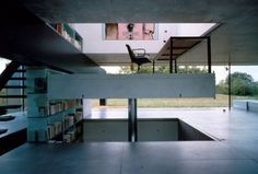 "Another design project choice.  The Bordeaux Villa designed in 1998 by Rem Koolhaas / OMA.  ""The centerpiece of this house is an elevator platform the size of a room which connects the three levels of the house, creating a fully accessible living space for the owner who lived in a wheelchair."""