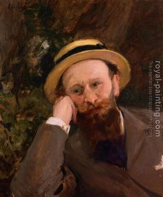 Portrait of Edward Manet by Carolus-Duran (1837 - 1917)