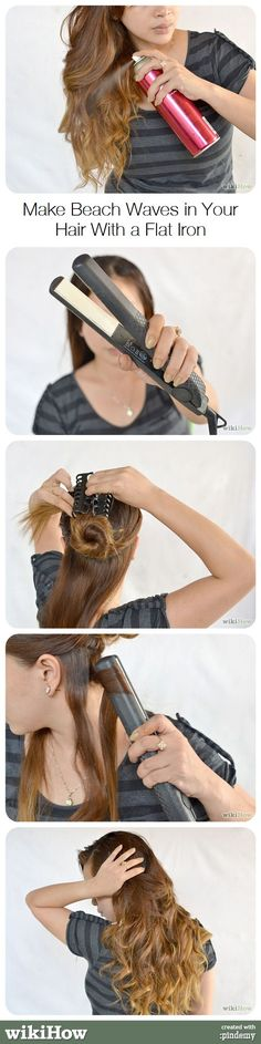 How to Make Beach Waves in Your Hair With a Flat Iron #hair #beauty