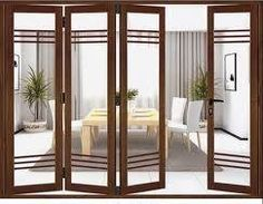 Get UPVC bifold doors in bangalore at best price Upvc Windows, Windows And Doors, Upvc Bifold Doors, Door Design, House Design, Entertainment Room, Patio Doors, Wooden Doors, Terrace